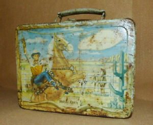 Vintage Gene Autry Melody Ranch Metal Lunch Box