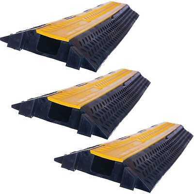 Aus Dem Ausland Importiert 3 X 1 Kanal Kabelbrücke Kabelschutz Kabelkanal Überfahrschutz Kabelmatte Lkw Pkw üBerlegene Materialien Pro-audio Equipment