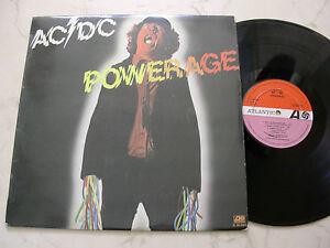 Acdc Powerage Rare Spanish Original 1st Press Orange Lilas