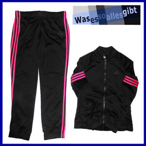 SCHNAPPCHEN-adidas-Cosy-PES-Tracksuit-Women-schwarz-pink-Gr-S-T-9489