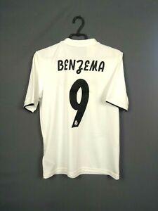 Benzema-Real-Madrid-Jersey-2018-2019-Home-Youth-15-16-y-Shirt-Adidas-CG0554-ig93