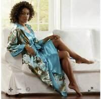Brand Womens Midnight Velvet Turquoise Island Pleasures Robe Size Large