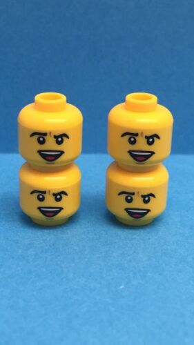 4 NEW LEGO Male Minifigure Heads