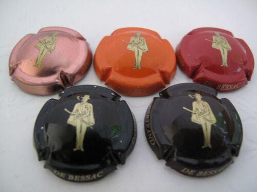 Série de  5 capsules champagne BERTRAND DE BESSAC