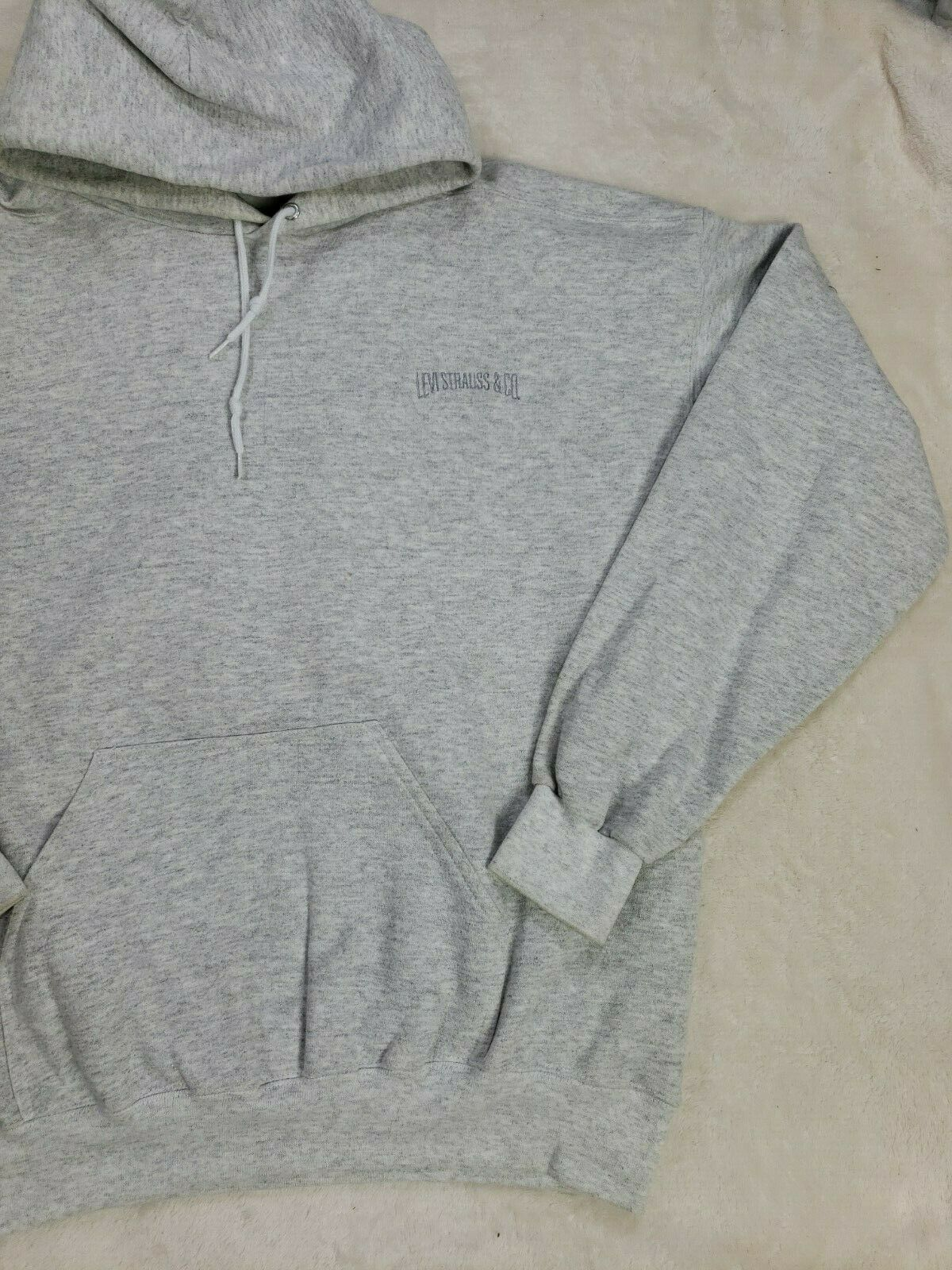 Levis Vintage Mens Gray Hoodie Size L Made in USA… - image 2
