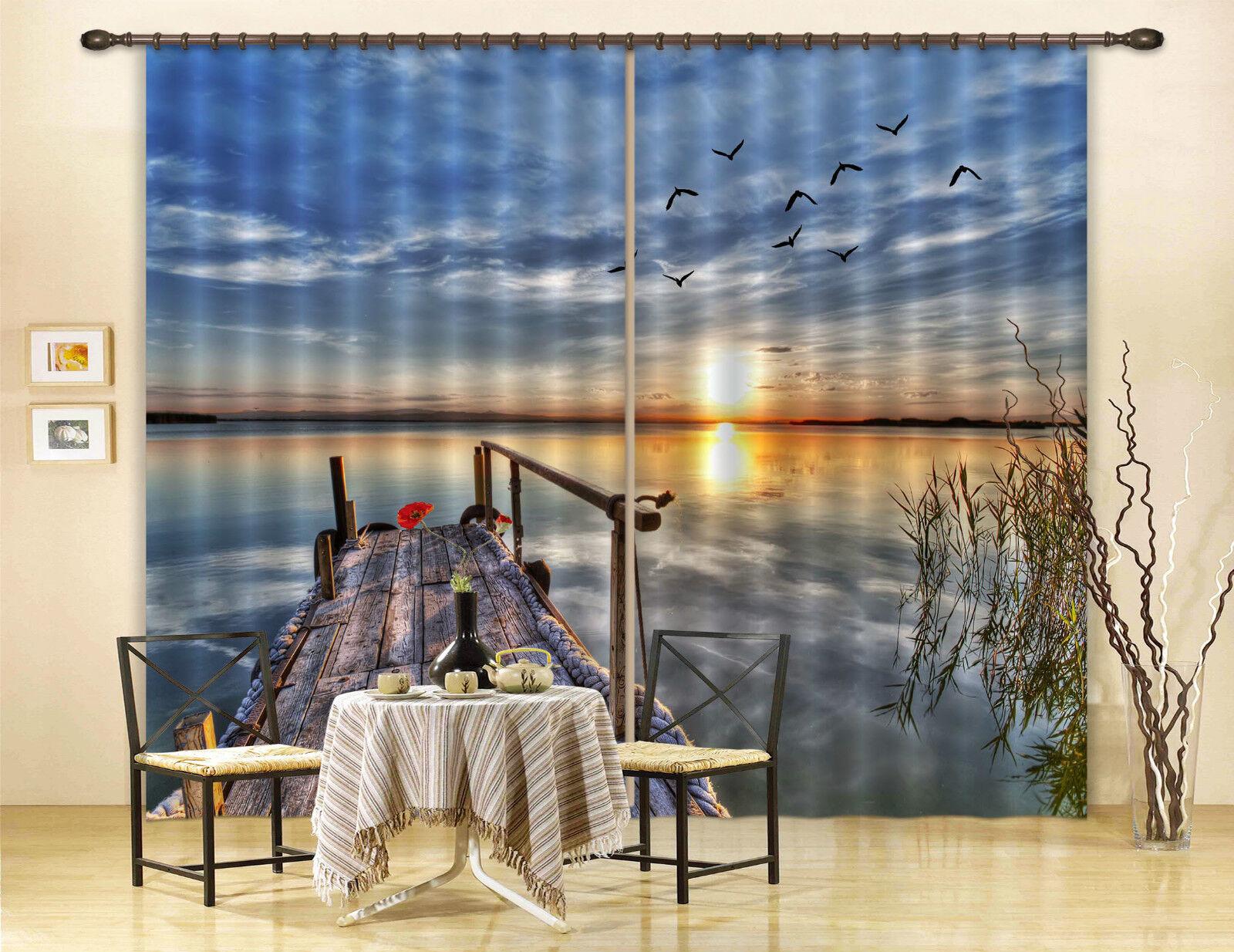 3d mar tan maravilloso 307 bloqueo foto cortina cortina de impresión sustancia cortinas de ventana
