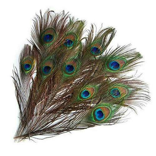 10Pcs 100/% Real Natural Peacock Feathers Party Stage Costume Makeup Tool 25-30cm