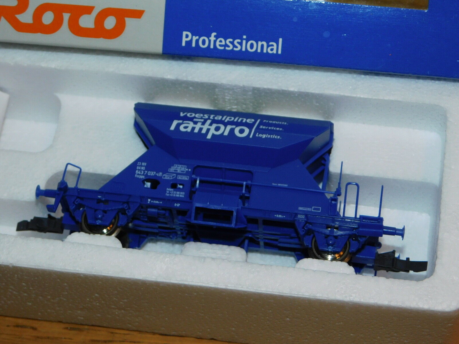 ROCO 47531 H0-NS WAGON Ballast marchandise VOESTALPINE RAILPRO Dutch 643-7-037-4