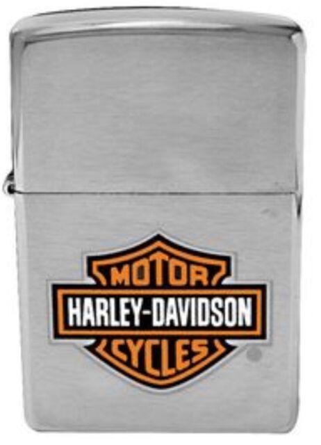 Harley Davidson Vintage Stainless Steel Chrome Windproof Refillable Lighter