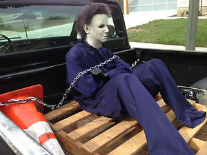 50bb31aa2b6b Image is loading MICHAEL-MYERS -JASON-Halloween-High-Quality-COVERALL-Jumpsuit-