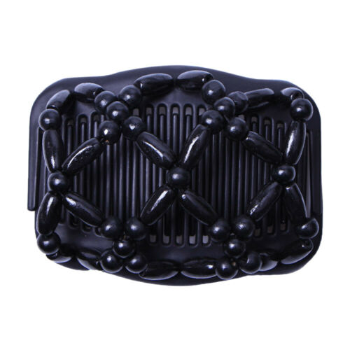 Details about  /2 Pieces Magic Women Stretch Double Hair Comb Clip Updo Tools Accessories