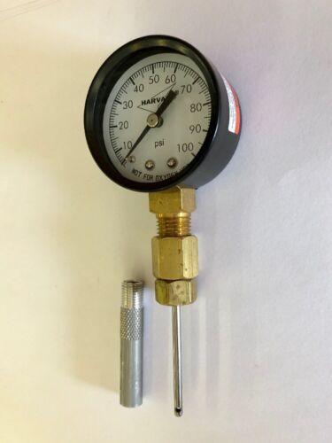 Geothermal Loop Pressure Port Tool 100 Psi Gauge W// Protector Geo Needle Tool