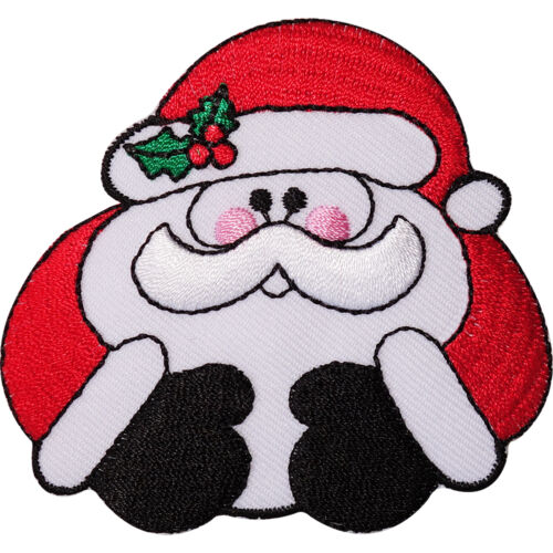 Father Christmas Embroidered Iron Sew On Patch Santa Decoration Crafts Badge