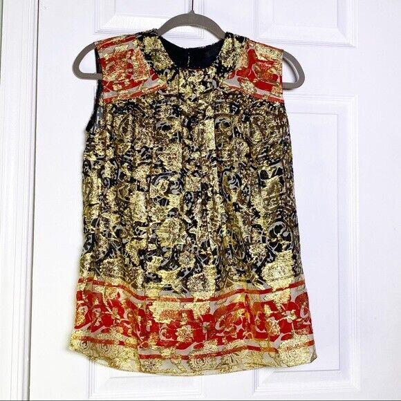 Anna Sui Vintage Brocade Top - image 1