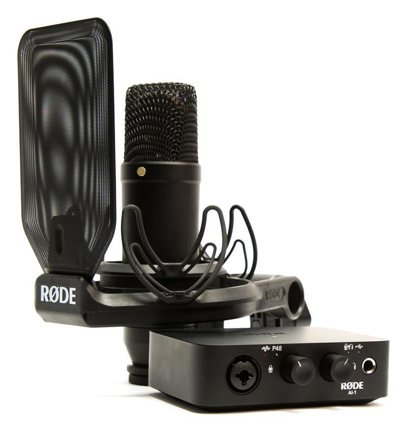 Rode COMPLETE STUDIO KIT USB Audio Interface microfono nt1 ai-1 homerecording Set