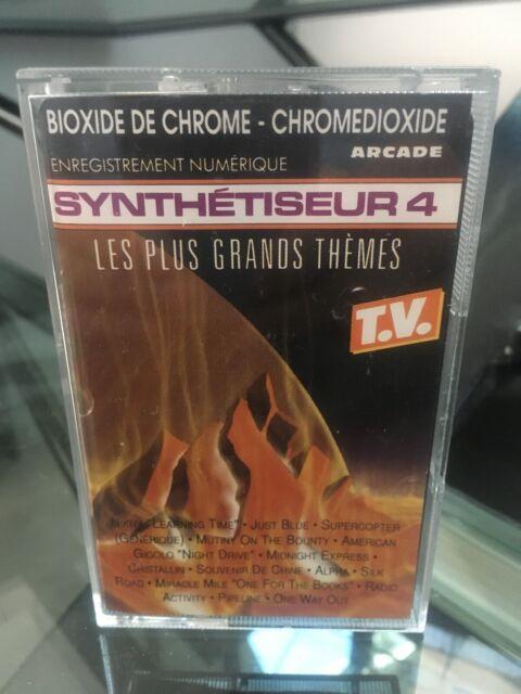 RARE CASSETTE K7 AUDIO TAPE SYNTHETISEUR 4 LES PLUS GRANDS THEMES  ARCADE