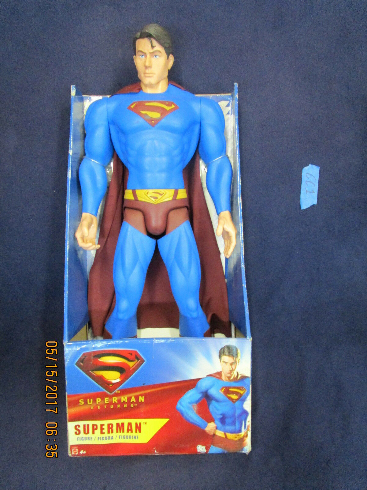 CC1_2_3 Mattel DC Movie Master Lot GIANT SUPERMAN RETURNS 30 INCH ACTION FIGURE