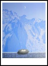 Rene Magritte Le Domaine d Arnheim Poster Kunstdruck mit Alu Rahmen in 100x70cm