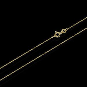 45cm-333er-gelb-GOLD-Kette-Venezianer-Kette-Veneziakette-Collier-0-6mm-0-9g-3703
