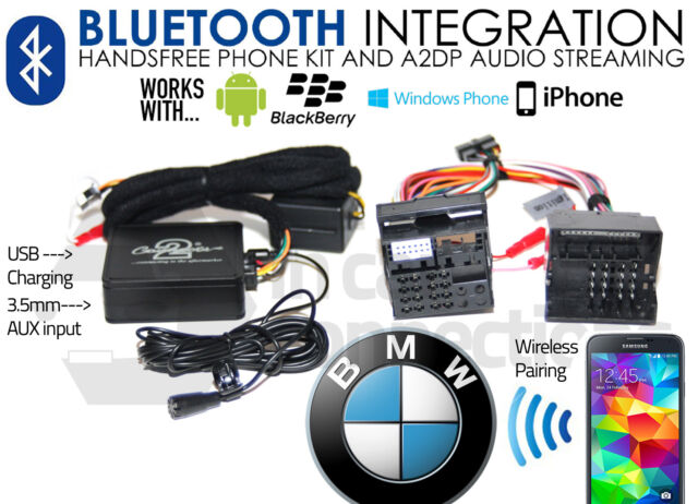 BMW 5 Series E39 Bluetooth streaming handsfree calls CTABMBT009 AUX MP3 iPhone