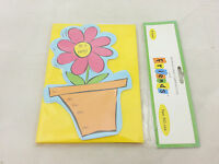 Mjzoom - 8 Shaped Party Invitations With Envelopes - Potted Flower Nip