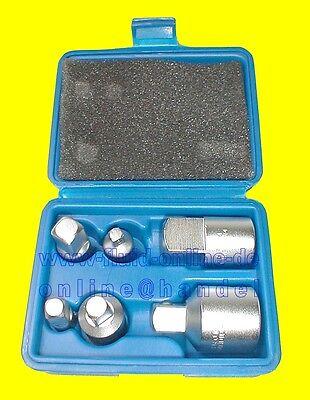 """Satz Adapter Nüsse Knarre Ratsche 6tlg 6,3mm (1/4"""") bis 20mm (3/4"""") BGS 199 NEU"""