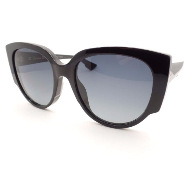 b187c23f1265 Christian Dior Night 1 807 HD Black Grey Fade New Sunglasses Authentic 807HD