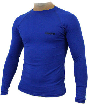 Mens Compression Soccer Body Armour Base Layer Thermal Under Top Rugby Skins New