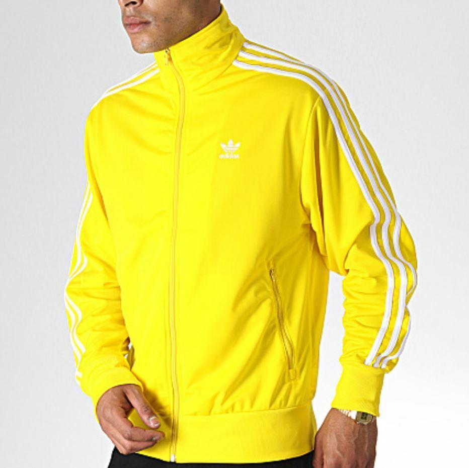Serrado Credo Extra  adidas Originals Men's SST Windbreaker Tribe Yellow 3 Stripe Jacket Size XL  for sale online | eBay