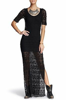 Free People Intimately Too Cool Sheer Black Lace Maxi