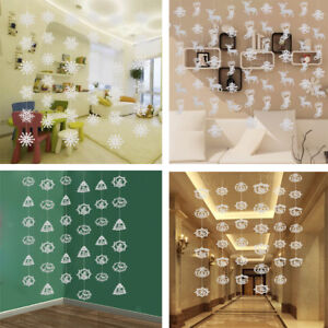 Hanging Christmas Decorations Ceiling.Details About White Paper Cutout Christmas Hanging Garlands Ceiling Christmas Decoration