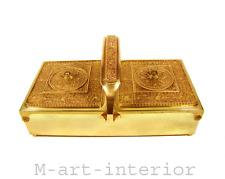 ERHARD & SÖHNE Schatulle Schmuckkasten Nähkasten Box Messing vergoldet um 1915