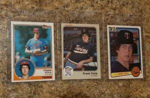 (3) Frank Viola 1983 Topps Fleer Donruss Rookie Card Lot Twins RC