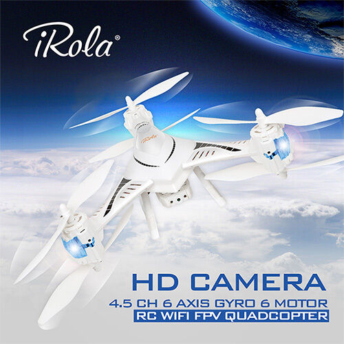 IRola 2.4GHz WIFI FPV Real-time  RC Drone RTF 4.5 CH 6 Axis Gyro LED Quadcopter  perfezionare