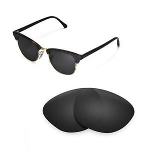 fb0682040b5 New Walleva Polarized Black Lenses For Ray-Ban Clubmaster RB3016 ...