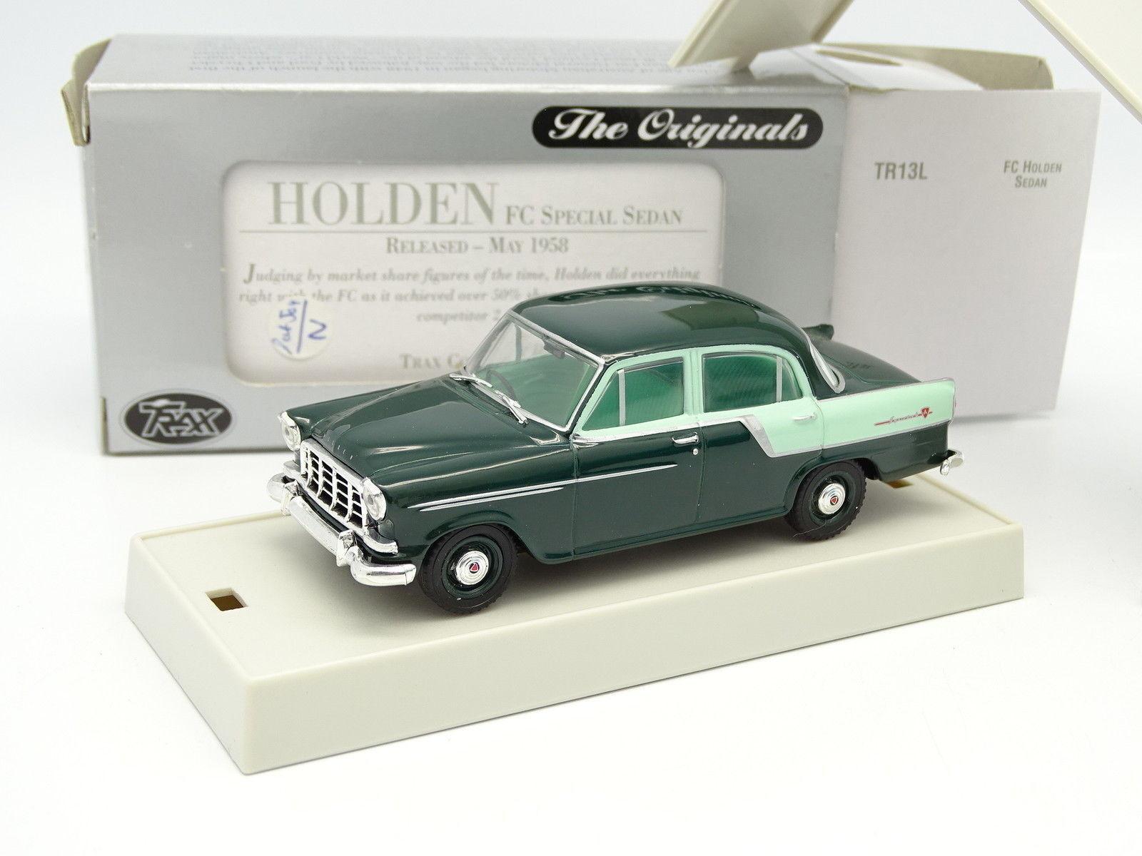 Trax 1 43 - Holden FC Special berlina green 1958 TR13L