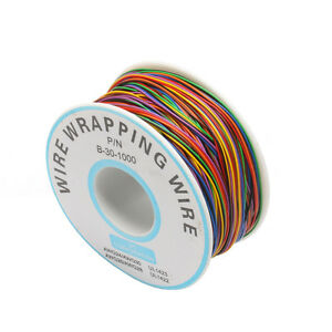 8-Colors-One-Roll-30AWG-Wire-Wrapping-Wire-Tinned-Copper-Solid-PVC-insulation