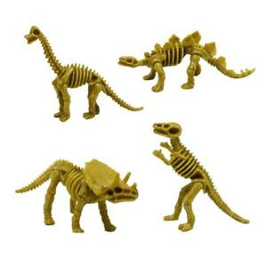 4pcs/set Dinosaur Toys Fossil Skeleton Simulation Model Set Mini Educational Toy