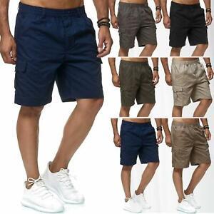 Mens-Cargo-Shorts-Lightweight-Combat-Elasticated-Waist-Pants-Combt-Outdoor