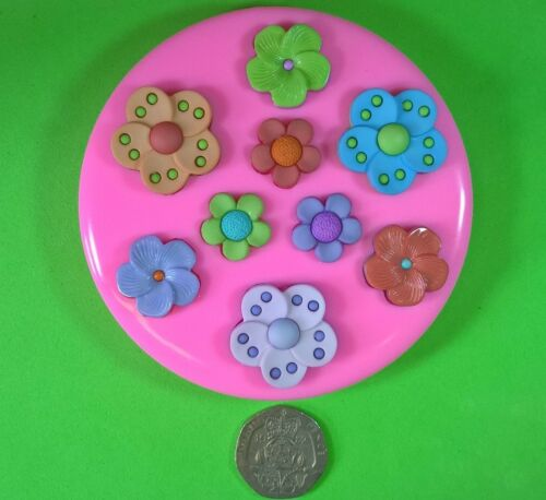 Tropical Flowers Silicone Mould by Fairie Blessings