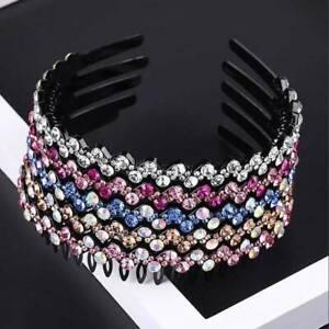 Fashion-Women-039-s-Crystal-Rhinestone-Headband-Hairband-Hair-Hoop-Hair-Accessory