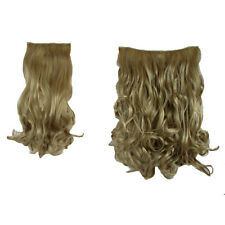 """Hair Extensions  Clip In 2 Piece POP Hair Curly Wavy Honey Blonde Fashion 21"""""""