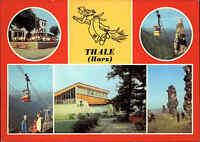 DDR Postkarte THALE Harz Kr. Quedlinburg ua. Teufelsmauer, Personen-Schwebebahn