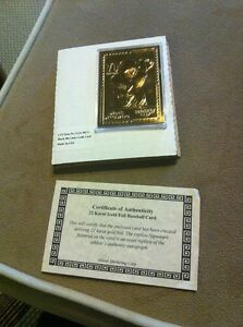 Details About Mark Mcgwire 1998 Promint 22 Karat 22kt Gold Foil Card Baseball 70 Homeruns