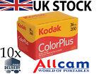 10 Pack: Kodak Colorplus 200 35mm 36 Esposizioni Colore Pellicola Negativo