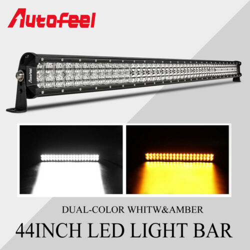 Autofeel 44 Inch Dual-Row LED Light Bar Spot Flood Offroad For Jeep Truck