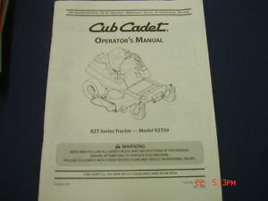 Cub cadet rzt50 operators manual ebay image is loading cub cadet rzt50 operators manual publicscrutiny Gallery