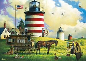 Buffalo Games - Charles Wysocki - The Three Sisters - 300 Large Piece Jigsaw ...