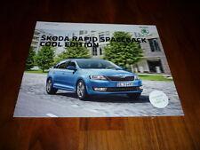 Skoda Rapid Spaceback COOL EDITION Prospekt 05/2016