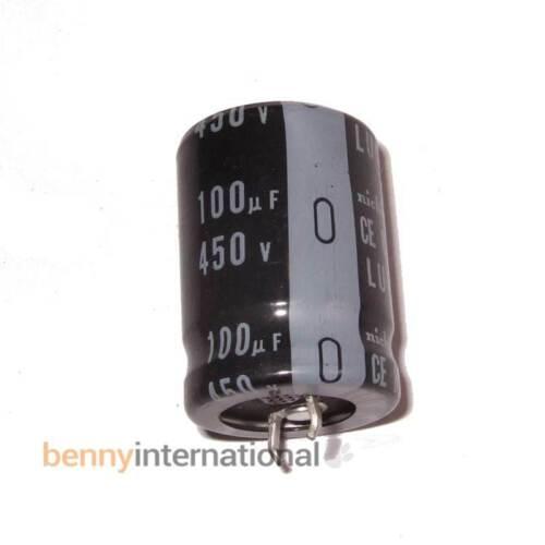 100uF 450V 85°C ELECTROLYTIC CAPACITOR Nichicon LU Series AUS STOCK